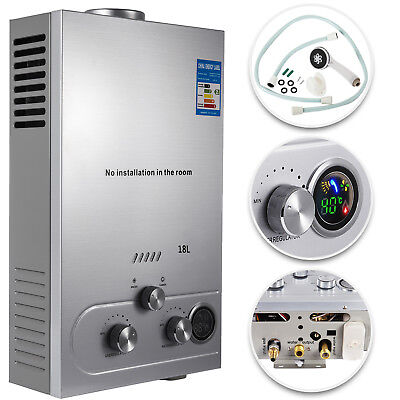 Natural Gas Tankless Hot Water Heater Whole House 4.8 GPM