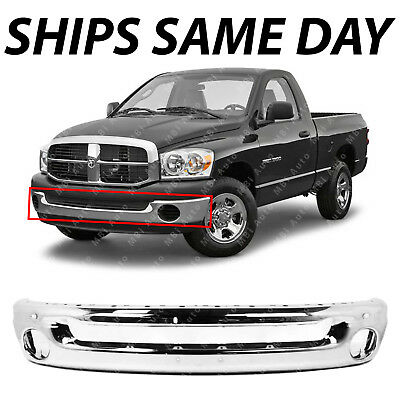 NEW Chrome   Front Bumper Face Bar for 2002 2009 Dodge RAM Pickup 1500 2500 3500