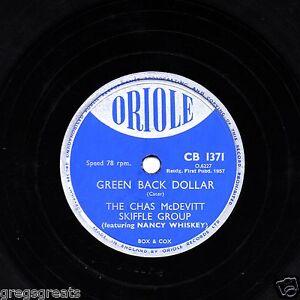 1957-UK-No-28-CHAS-McDEVITT-SKIFFLE-78-GREEN-BACK-DOLLAR-ORIOLE-CB-1371-EX