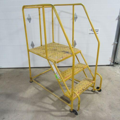 "30"" Platform Rolling Ladder 3 Steps Used Local Pickup Serial No. X045697"
