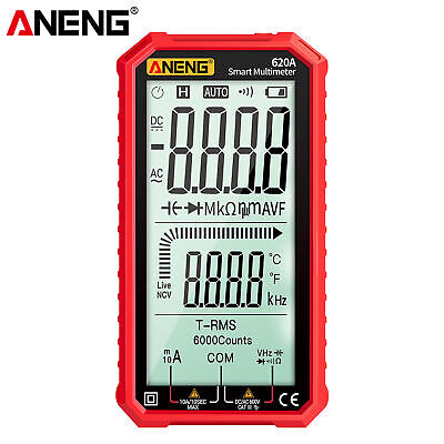 Aneng 4.7 Lcd Acdc Digital Multimeter True-rms Auto-ranging Multi Tester G9p6