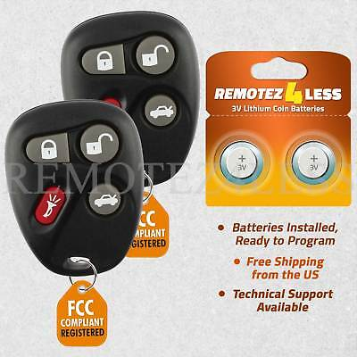 2 Remote for 2001 2002 2003 2004 2005 Cadillac Deville Keyless Entry