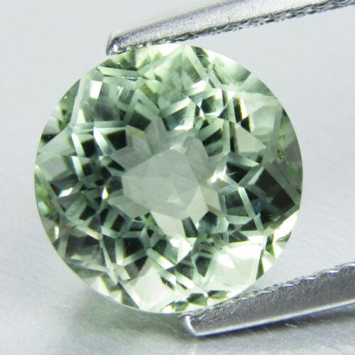 4.69Cts Stunning Natural Green Amethyst (Prasiolite) Round Diamond  Cut Ref VDO