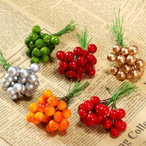 Artificial Holly Berries Flower Stamen Home Hotel Wedding Christmas Decorations