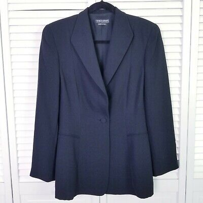Giorgio Armani Black 100% Silk Blazer Size 42