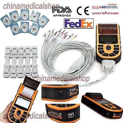 Handheld Digital Single Channel 12 Lead Ecgekg Machine Electrocardiograph Fda