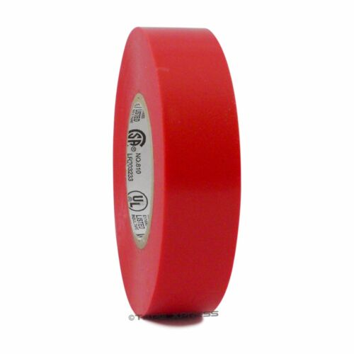 """1 Roll Red Vinyl PVC Electrical Tape 3/4"""" x 66"""
