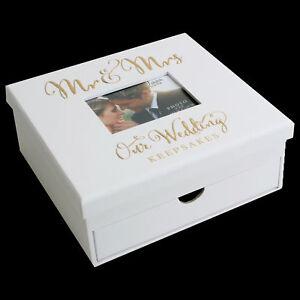 Always & Forever Range Gold Foil 'Our Wedding' - Keepsake Box with Drawer