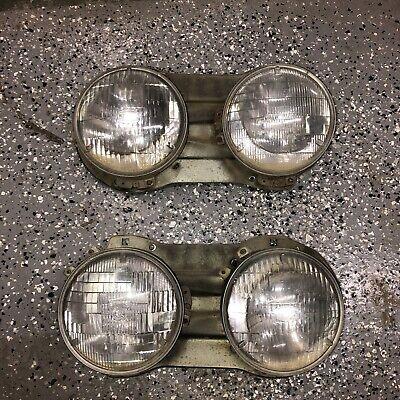 Datsun 620 Pickup Truck Headlight Bezels Buckets w/ RINGS 1973 - 1979