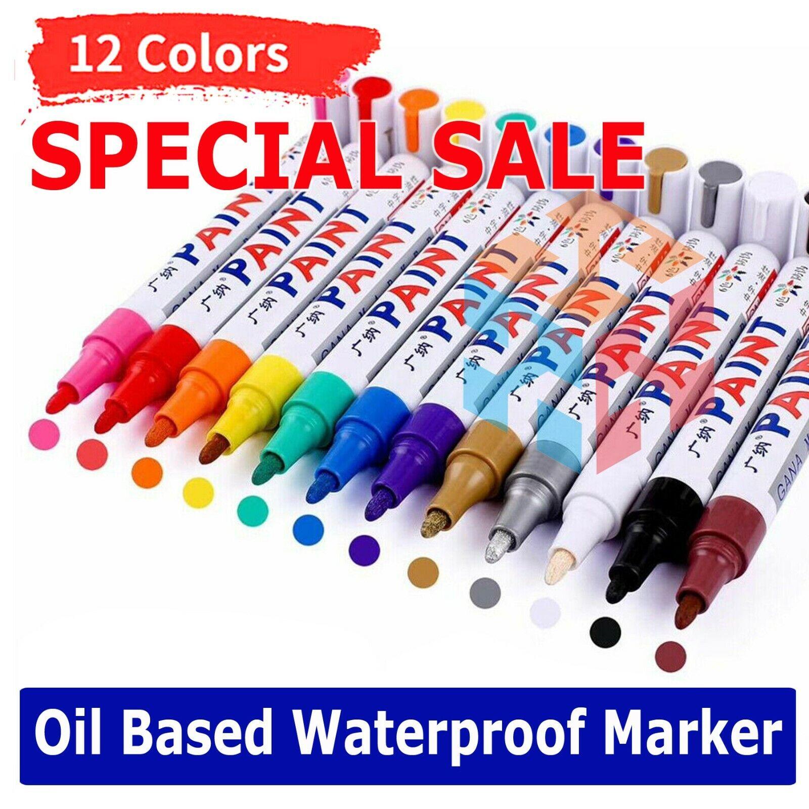 White Paint Pen Marker Waterproof Permanent Car Tire Letteri