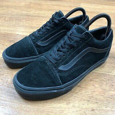 Vans Old Skool Trainers Skate Shoes Triple Black UK 7