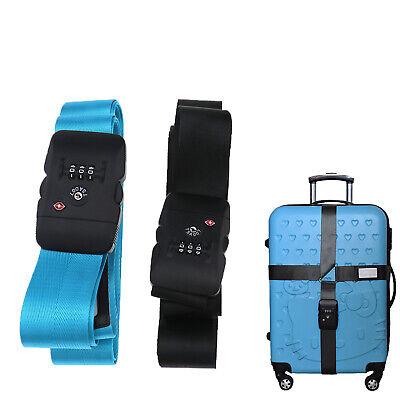 1x Kofferband TSA Kreuz-Koffergurt mit Zahlenschloss Gepäckgurt Koffer (Tsa Gepäckgurt)
