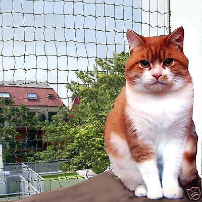 Katzennetz, 1 qm 2,25 €, Katzenschutznetz Meterware drahtverstärkt Balkonnetz