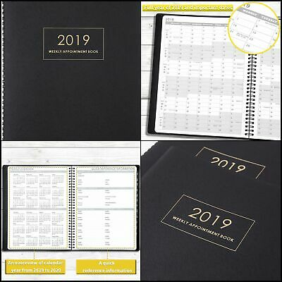 2019 Weekly Planner Appointment Monthly Yearly Calendar Hourly Organizer W Tabs