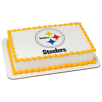 Pittsburgh Steelers Cake (Pittsburgh Steelers NFL football image cake topper frosting sheet)