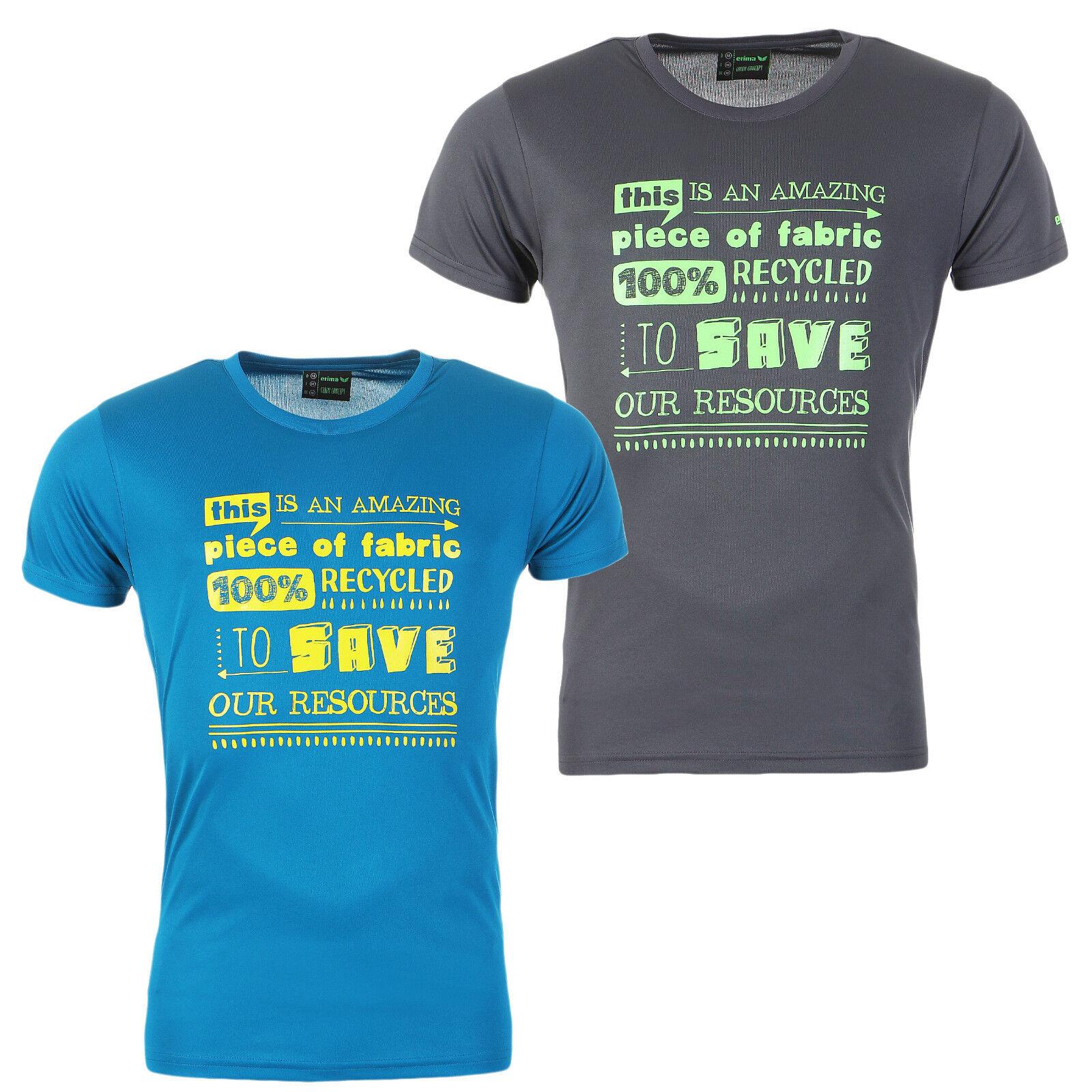Erima Herren T-Shirt Laufshirt Fitness Funktionsshirt Shirt NEU Blau Grau S-4XL