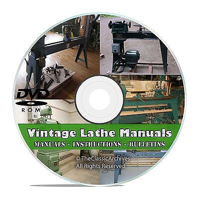 Lathe Owners Manuals Instructions Parts List Atlas Monarch Machine 350 V46
