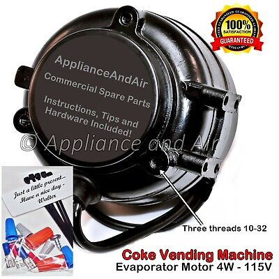 Coke Cavalier Vending Machine Evaporator Fan Motor Coca Cola 4w 115v Ships Today
