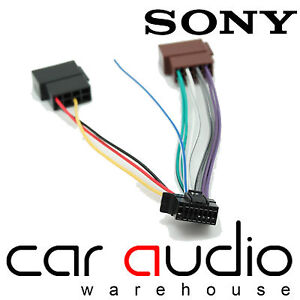 sony 16 pin iso unit replacement car stereo wiring harness lead ct21so02 ebay