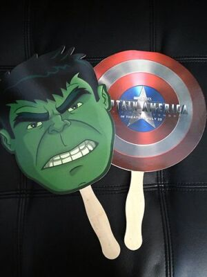 SDCC 2013 HULK AND THE AGENTS OF SMASH PAPER MASK +CAPTAIN AMERICA SHIELD MASK - Captain America Mask And Shield