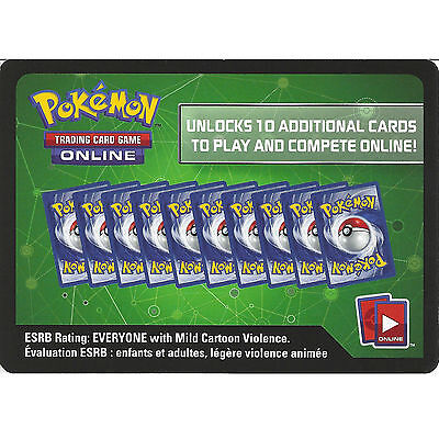 10 X Pokemon XY Evolutions Code Cards - TCGO Online Booster Pack