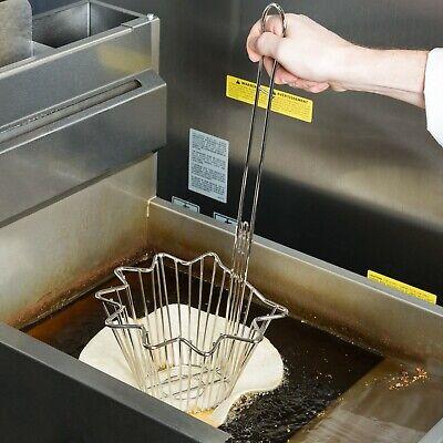 Taco Salad Shell-Shaped Nickel-Plated Bowl Frying Basket - 8 1/8