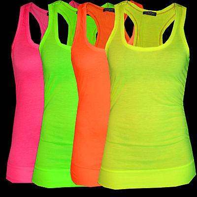Tops, Tank Top, Top, neon, neon gelb, neon pink, neon orange, One-Size 34 36 38