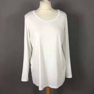 Hanro Of Switzerland White Cotton Relaxed T-shirt Top Size S - immaculate