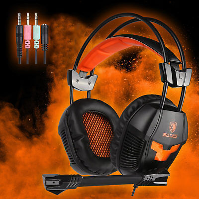 Sades SA921 PC Gaming Headsets Headphones With Mic for PS4 Xbox360 New Xbox one