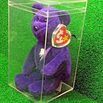 Exclusive 1997 Princess Diana Bear Ty Beanie Baby Indonesia PVC No Space - MWMT