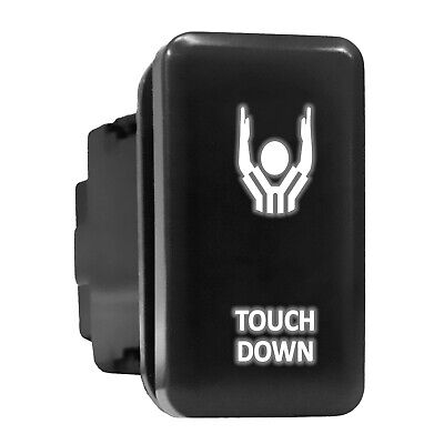 Touch Down White Led Backlit Switch Tall Push Button 1.54x 0.83 Fit Toyota