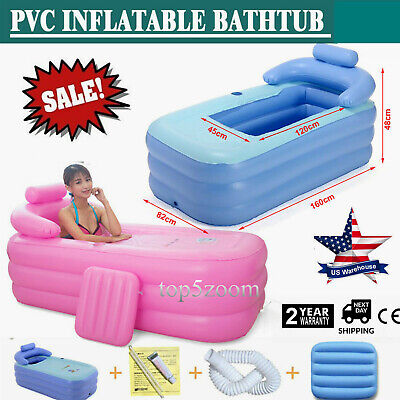 Adult Inflatable Bathtub (Blow Up Inflatable Bathtub Bath Tub Adult PVC Portable Comfortable Spa Bath)