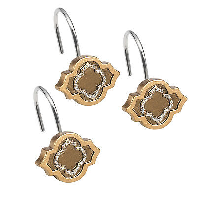 Popular Bath Spindle Gold Collection Shower Hook Set Bath