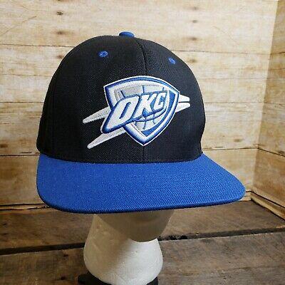 online store fe9f7 07578 Oklahoma City OKC Thunder Hat Mitchell   Ness NBA Strapback Ball Cap
