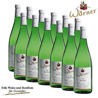 (4,38€/l) Riesling lieblich 12x1L WEINGUT WÖRNER - Weißwein Wein aus der Pfalz