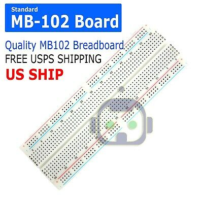 Mb-102 830 Point Prototype Pcb Solderless Breadboard Protoboard Us