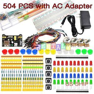 Arduino Raspberry Pi Electronic Kit Power Supply Jumper Potentiometer Breadboard
