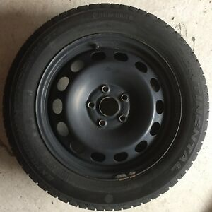 Winter tyres and rims 5x112 VW OEM