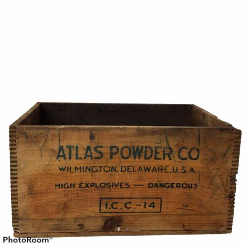 Atlas High Explosive Dynamite Crate Atlas Powder Company Mining Collectibles