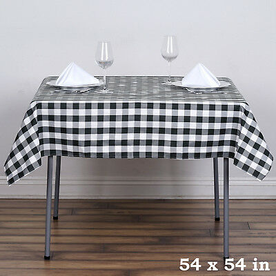 Black And White Checkered Tablecloth (Black White Checkered 54
