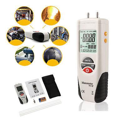 Led Digital Manometer Gauge Hvac Gas Tester Manometer Air Pressure Meter New