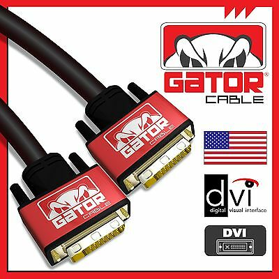DVI-D to DVI-D Cable Dual Link 24+1 Male Video Cable Adapter Gold Plated 6FT  Link Dvi Video