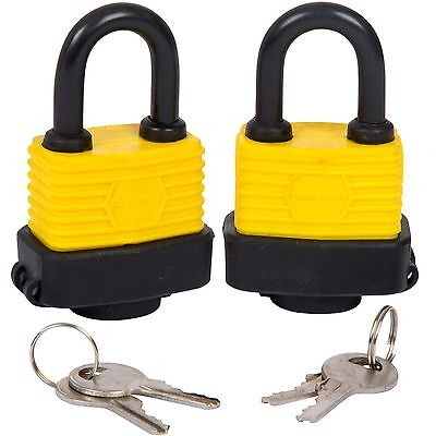 2 Padlocks Same Key weather resistant Padlocks Keyed Alike Shed Gate Garage Lock