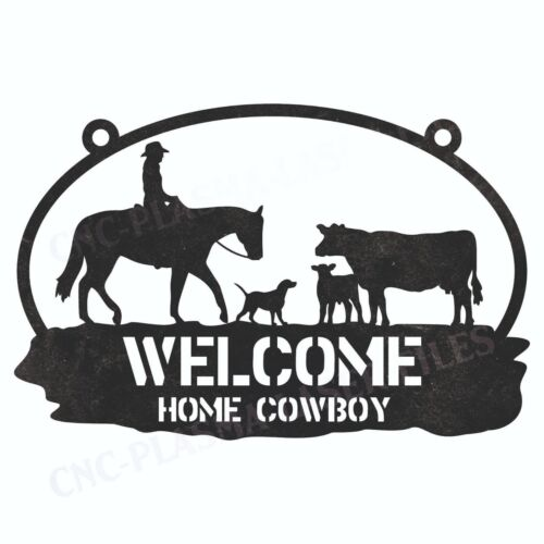 Welcome Home DXF Sign Plasma Laser Waterjet Router Plotter Cut Vector CNC