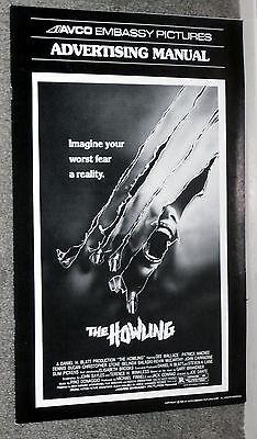 THE HOWLING original 1981 pressbook JOE DANTE/DEE WALLACE/JOHN CARRADINE