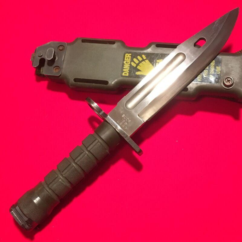 COLLECTIBLE M9 PHROBIS (BUCK 188 USA )POLISHED BLADE-VERY SHARP SP. FORCES BAYON