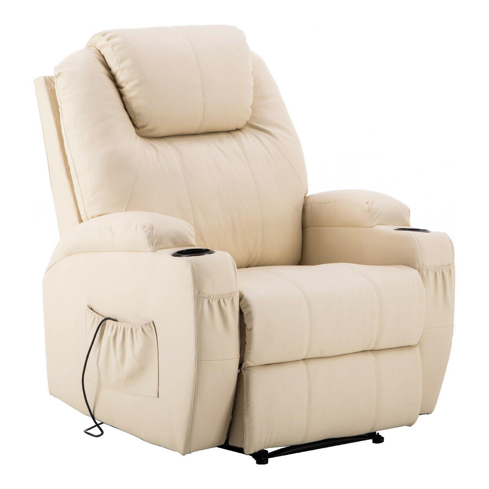 MCombo Elektrisch Relaxsessel Massagesessel Fernsehsessel Heizung Liegefunktion