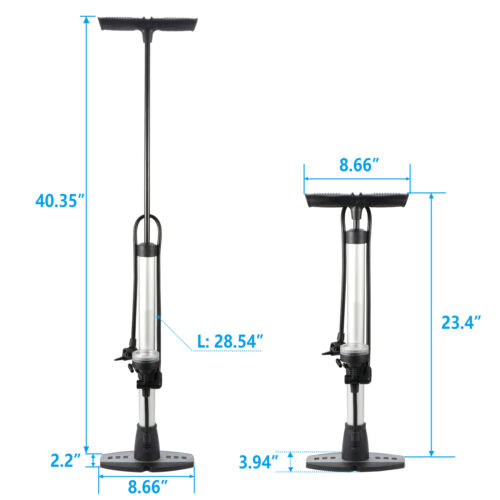Aluminum Bicycle Bike Tire Pump Fast Inflation Speed Max160p