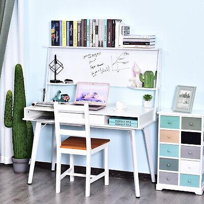 Heavy Duty Office Desk Computer Table Ample Storage Desktop White