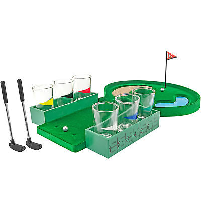 Table Golf Shot Glass Drinking Game Set  Game Night College Party Gag Gift